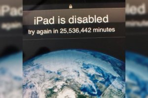 3-years-old toddler accidentally locks out iPad for 25 million minutes