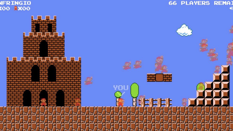 Super Mario Bros unofficially kicks in with the popular 'battle royale' genre