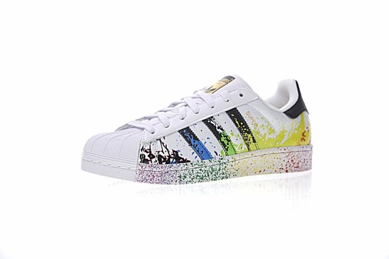 Adidas Superstar Paint Effect