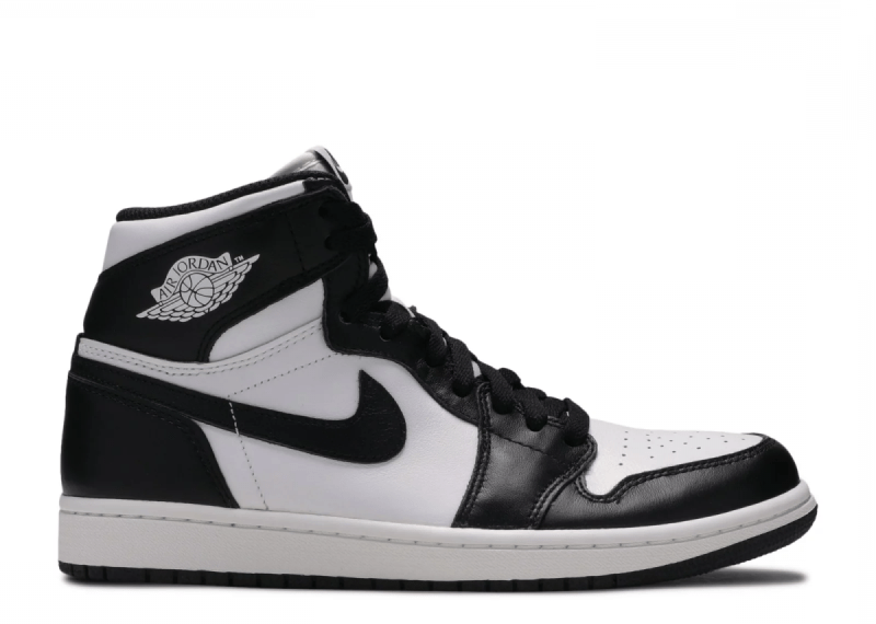 Air Jordan Retro 1 High Blanco y Negro