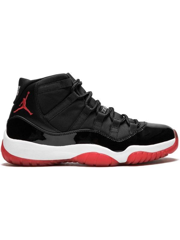 Air Jordan 11 Negro y Rojo