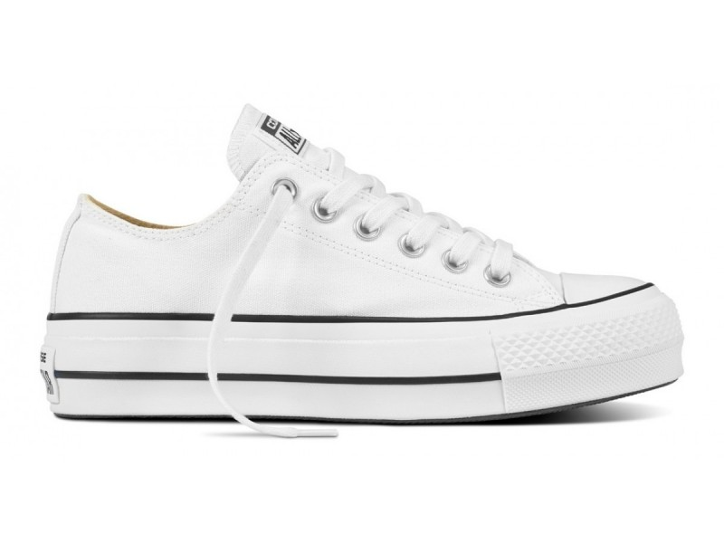 All Star Converse Bajas Blanco Plataforma