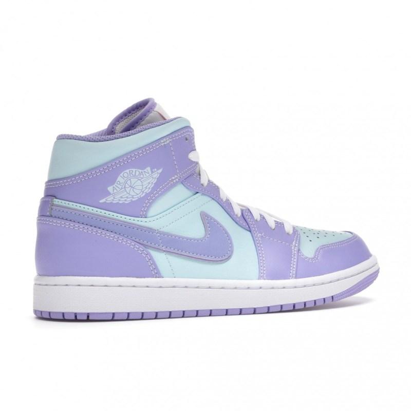 Air Jordan 1 Mid Purple Aqua