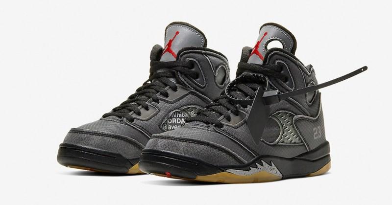 Air Jordan 5 x Off White Negro