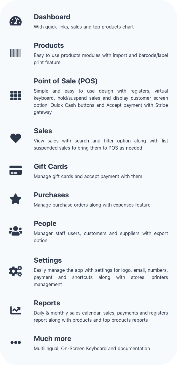 Simple POS Features