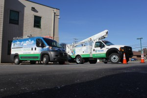 Teceri bucket truck and service van