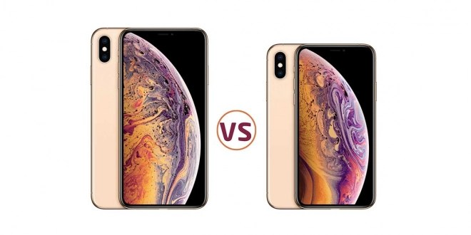 Comparison between iPhone Xs and Yvon Xs Max