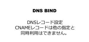 DNSレコード設定 CNAMEレコードは他の指定と同時利用はできません。