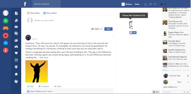 Flatbook Facebook UI