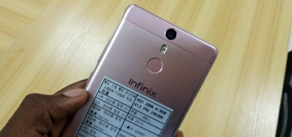 Infinix Hot S numbers