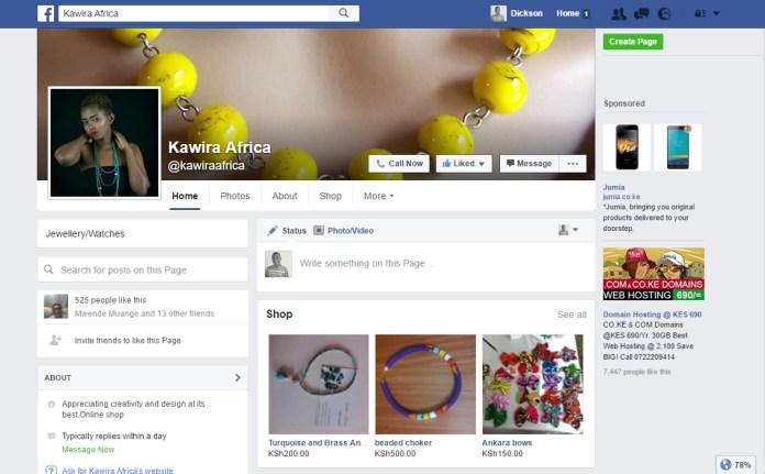 Old Facebook Page UI