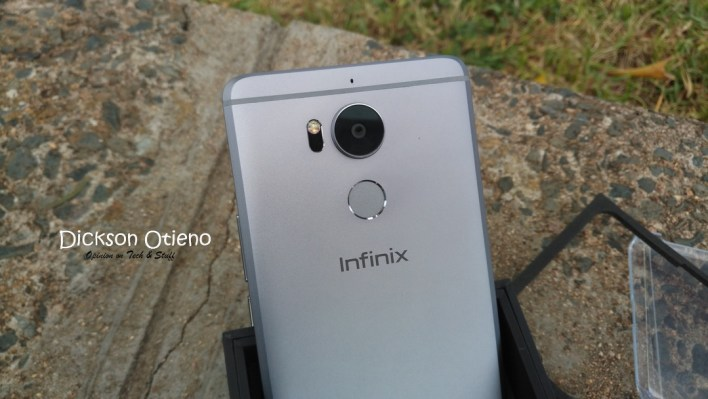 Camera with the flash and laser. Plus the fingerprint scanner.
