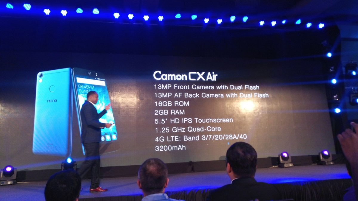 TECNO Camon CX Air Full Specifications List
