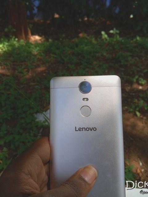 Lenovo K5 on hand