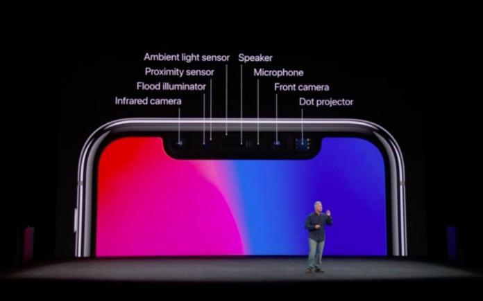 iPhone X front sensors