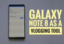 Galaxy Note 8 vlogging