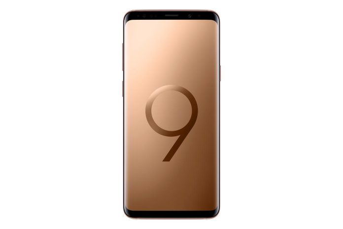 Galaxy S9 Plus Sunrise Gold Front