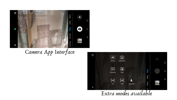Huawei Y7 Prime 2019 Camera Interface