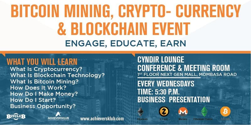 Bitcoin Mining, Cryptocurrency and Blockchain Event