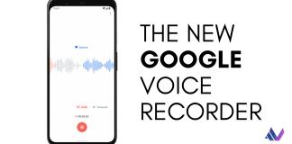 Google Pixel 4 VOICE Recorder