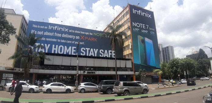 """To raise awareness about the virus and advocate for public safety measures, Infinix launched a """"STAY HOME, STAY SAFE"""" campaign online and offline"""