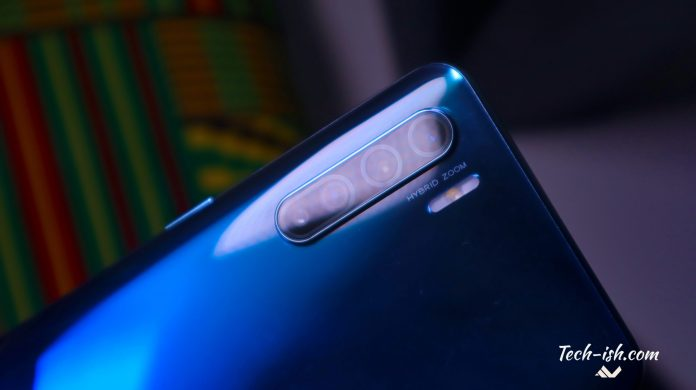 The OPPO Reno 3 is now available in Kenya for KES. 40,000 with 8GB RAM, 128GB storage, a Meditek P90 processor, 30W fast charging, a 44MP selfie camera, and quad rear camera setup featuring a 48MP main lens