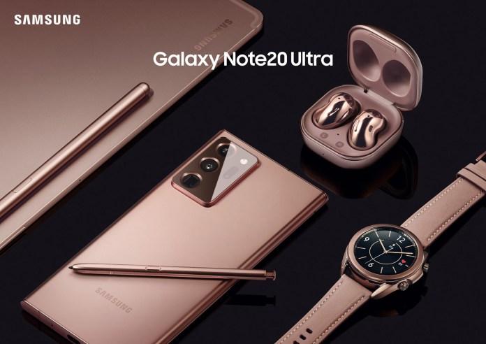 Samsung NOTE 20, Tab S7, Galaxy Watch 3, Galaxy Buds Live