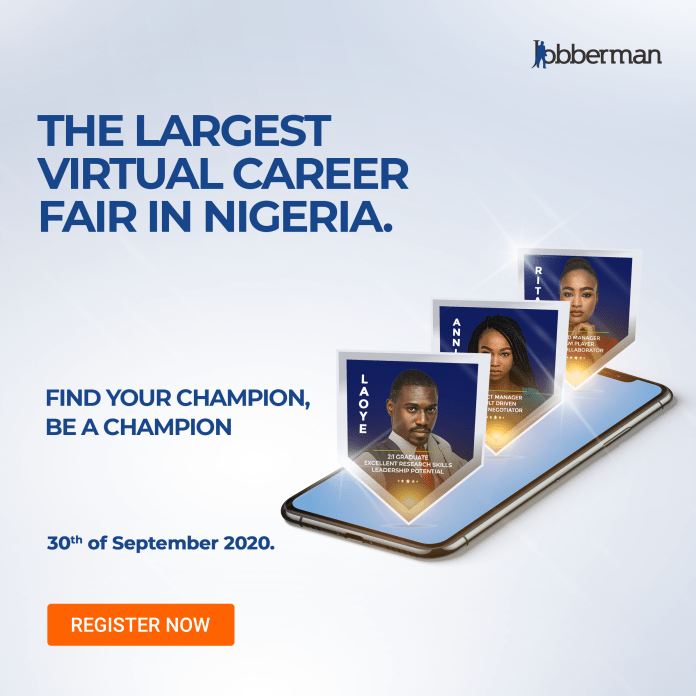 Nigeria's Leading Online Training and Job Placement Website to Host 250 Employers and 10,000 Jobseekers Online on 30th September 2020