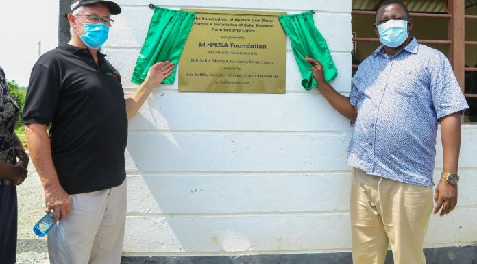 Residents in Kwale to benefit from Nyalani Dam water project by M-PESA Foundation