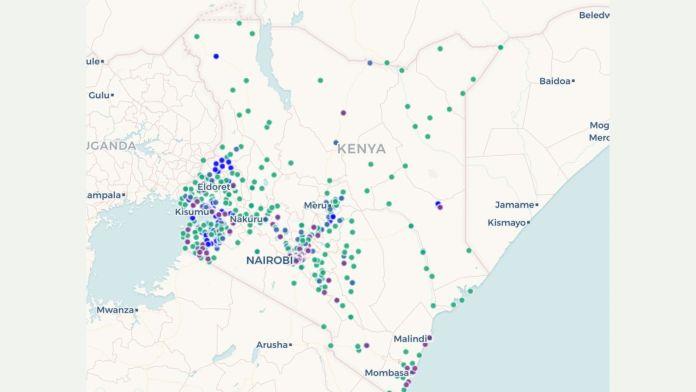 Vaccination Points across Kenya