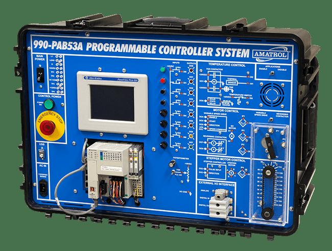 Portable PLC Learning System (Allen-Bradley ControlLogix)   Tech-Labs