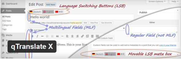 Semi-automatic WordPress Website Translation, qTranslate tech profis
