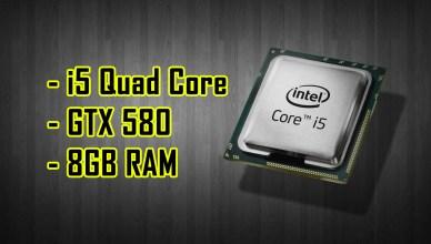 Gaming Benchmark Nvidia GTX 580 | Intel Core i5-750| 8GB DDR3