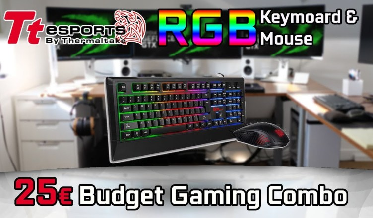 Thermaltake Challenger RGB Keyboard & Mouse Combo 2018 Ttesports Overview