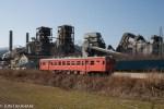 鉄道写真 雪に映える国鉄色キハ52 冬の大糸線
