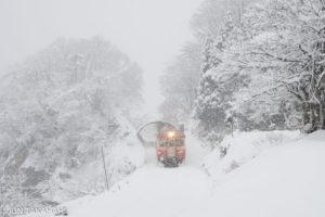 冬の大糸線キハ52