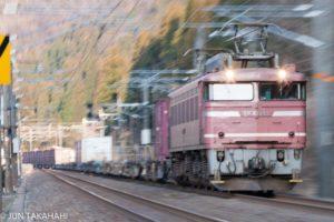 北陸本線貨物列車流し撮り