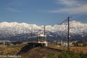 富山地方鉄道雪山バック