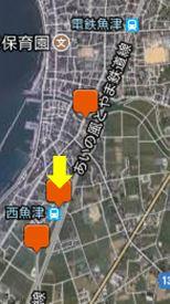 撮影地の地図