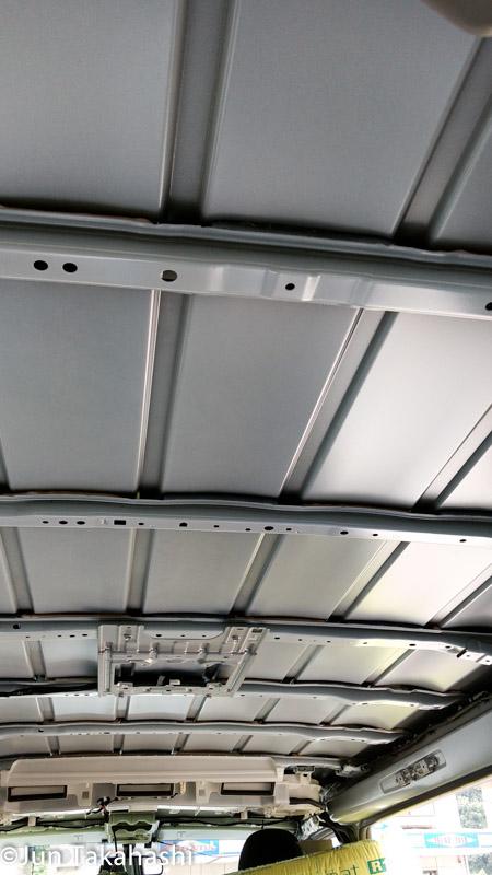 Install heat insulation on HIACE VAN