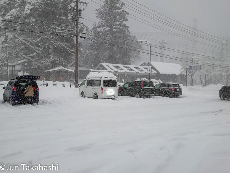 冬の道の駅白川郷