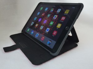 UAG Rogue Folio for iPad Air 2--Angled Front Stand View