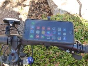 Bike Mount with MountCase 2: Top View