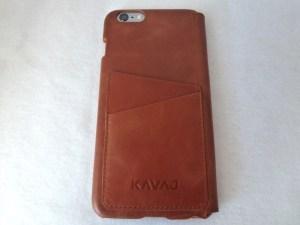 Kavaj Dallas iPhone 6 Plus Leather Wallet Case: Back View