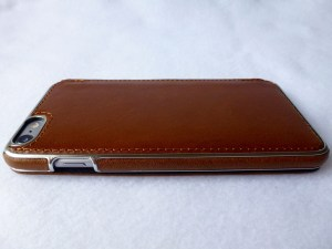 Adopted Saddle Leather Folio for iPhone 6 Plus: Back Side View