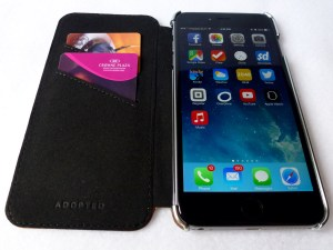 Adopted Saddle Leather Folio for iPhone 6 Plus: Front Open View
