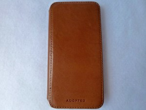 Adopted Saddle Leather Folio for iPhone 6 Plus: Front View