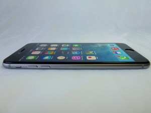 Imos Solid EX 3D Corning Gorilla Glass for iPhone 6+: Side View with Screen On
