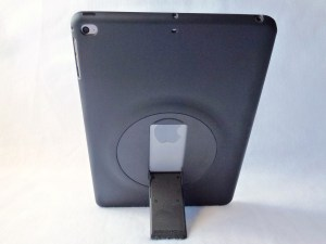 ZeroChroma Keyboard Slide-Lid Case for iPad Air and Air 2: Back Stand View--Portrait
