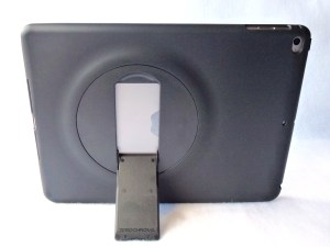 ZeroChroma Keyboard Slide-Lid Case for iPad Air and Air 2: Back Stand View